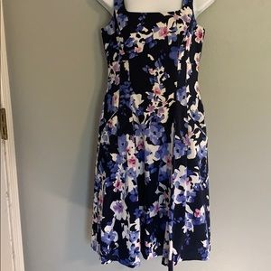 Navy blue and floral Ralph Lauren size 6 dress